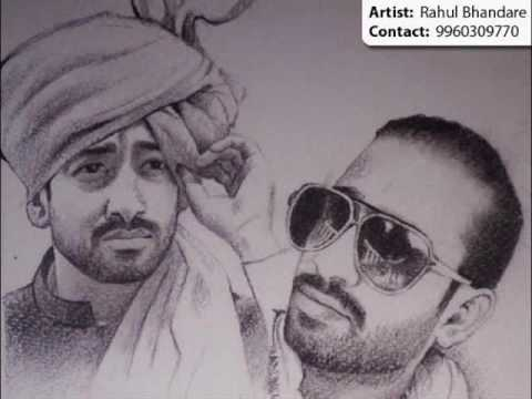 Copy of portrait painting pencil sketch artist pune mumbai youtube