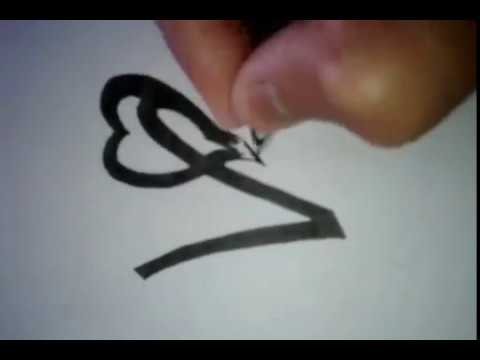 letter V with heart tattoo   YouTube