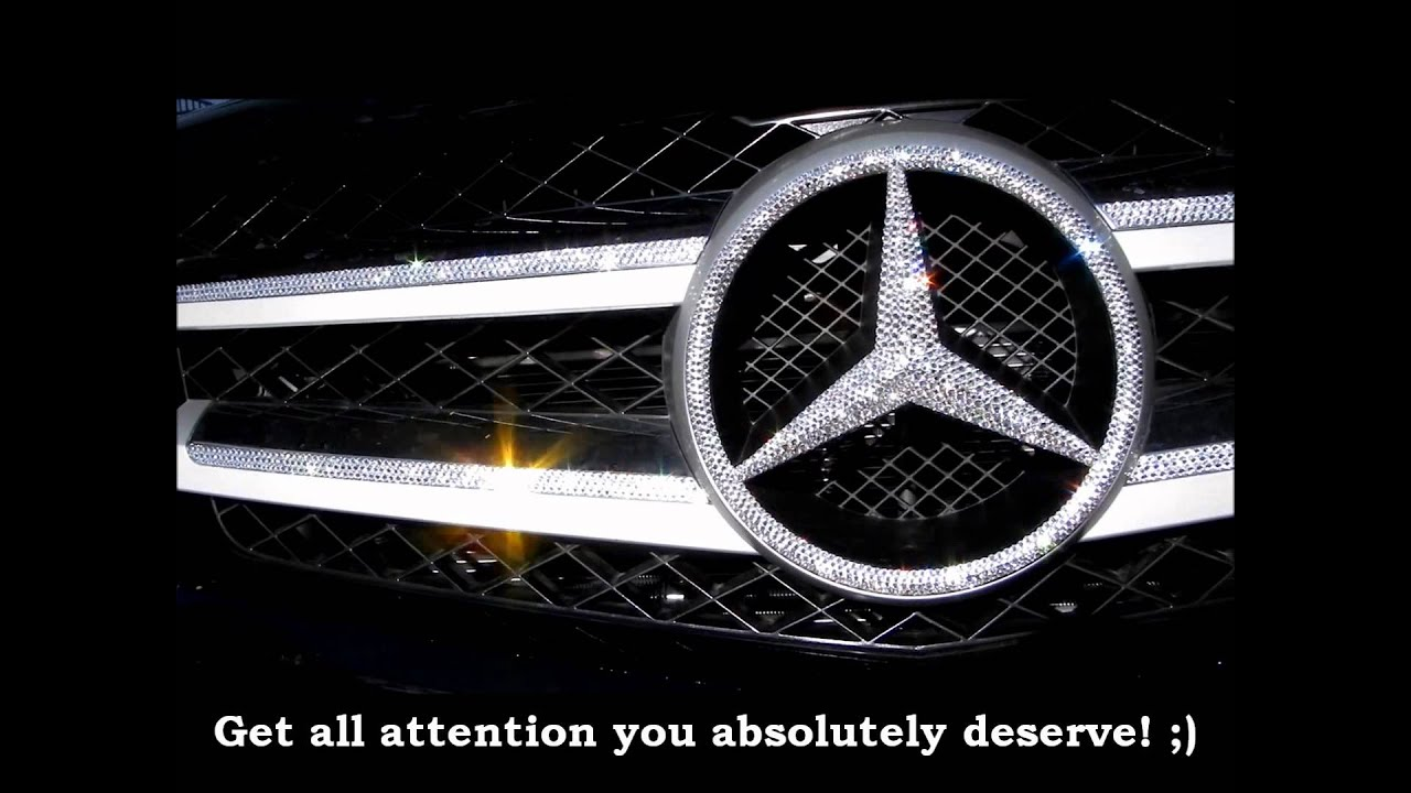 Bling Bling Crystal Mercedes Grill Emblem Whats Your