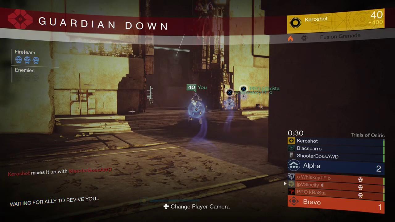 Destiny - Self-res glitch in Trials now freezes round timer