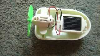 Hybrid Solar Powered Boat