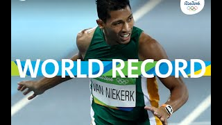 Wayne van Niekerk Win 400M And Set World Record Rio 2016