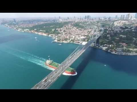 Istanbul aerial view, drone view