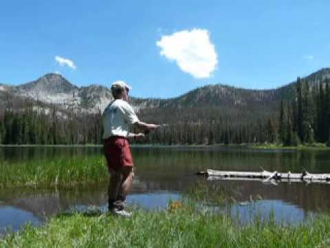 Catch a fish every cast Sun Valley Idaho Lake