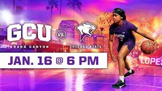 GCU Women's Basketball vs Chicago State January 16, 2020