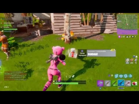 Fortnite - Pink Teddy Bear Killing Spree - Squads