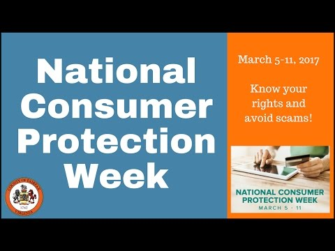 National Consumer Protection Week ~ March 5-11, 2017