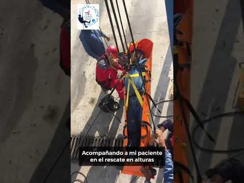 Acompañando a mi paciente en el rescate en alturas