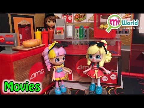 Lil' Shoppies Rainbow Kate & Popette Go To The Movies MiWorld AMC Theater Playset