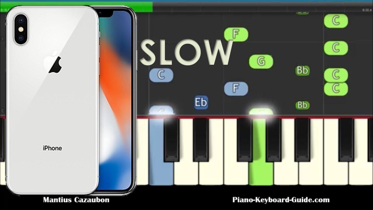iphone ringtone keyboard notes