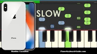 Iphone ringtone slow easy piano tutorial. and very versions. how to play the on keyboard. notes for ringtone...