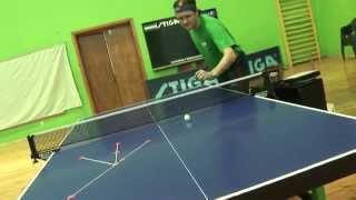Подача с нижним вращением объяснения (настольный теннис видео-уроки)