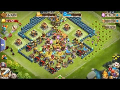 Cracking 33 Eggs Rolling 45k Gems Lucky Uncover The Treasure Castle Clash