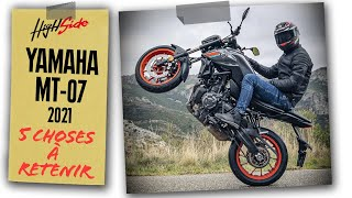Yamaha MT-07 2021 : 5 choses à retenir