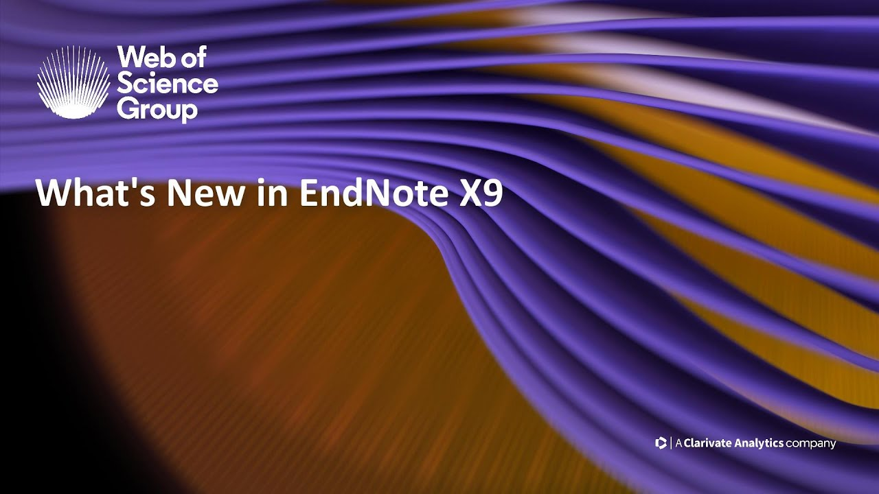 What's New in EndNote X9 - YouTube