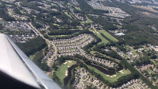 Taking off from Myrtle Beach International Airport. Delta Airlines