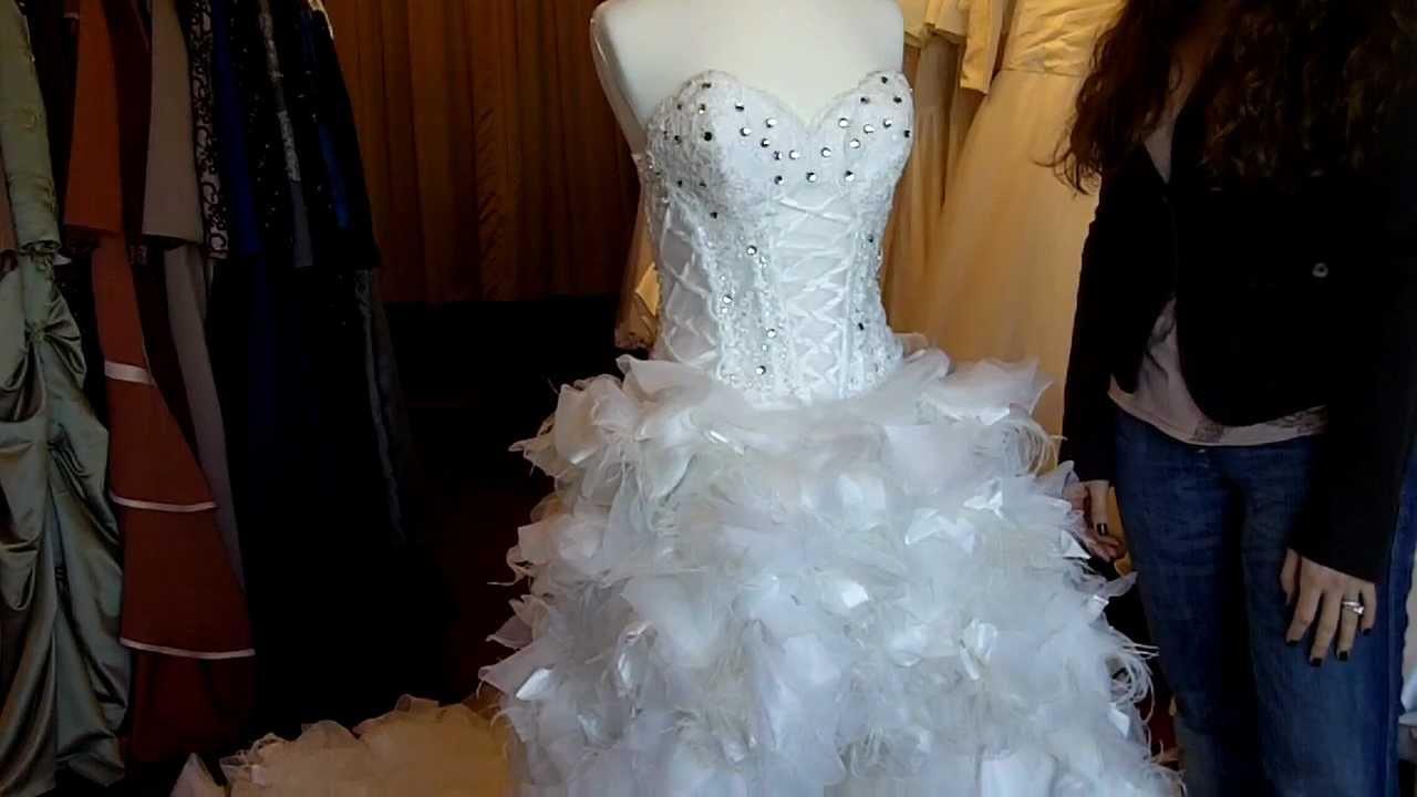 Feather Wedding Dress - YouTube
