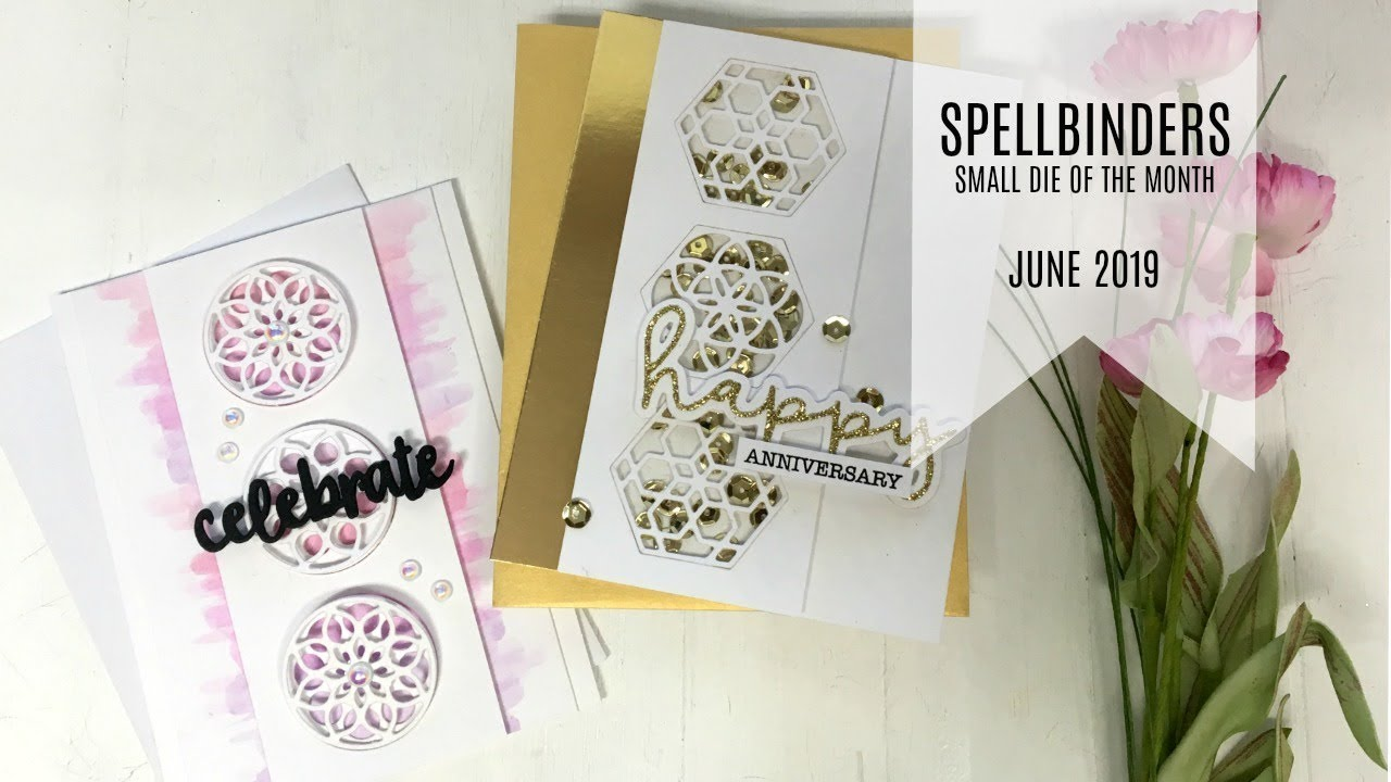 Spellbinders / Small Die of the Month Club Kit / June 2019 / Kaleidoscope  Trio