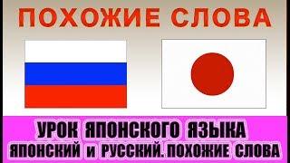 Похожие слова в русском и японском языках. Урок японского языка