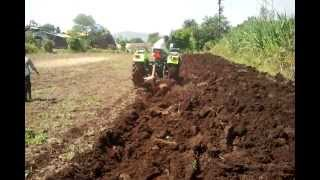 preet tractor plough demo 700 rpm in karad
