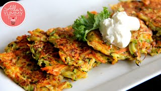 How To Make Zucchini Pancakes - Pancake Recipe - Оладьи из цукини