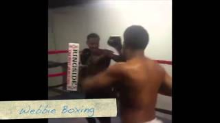 Full Video of Webbie Showing off his Boxing Skills. Got any Tips for him?