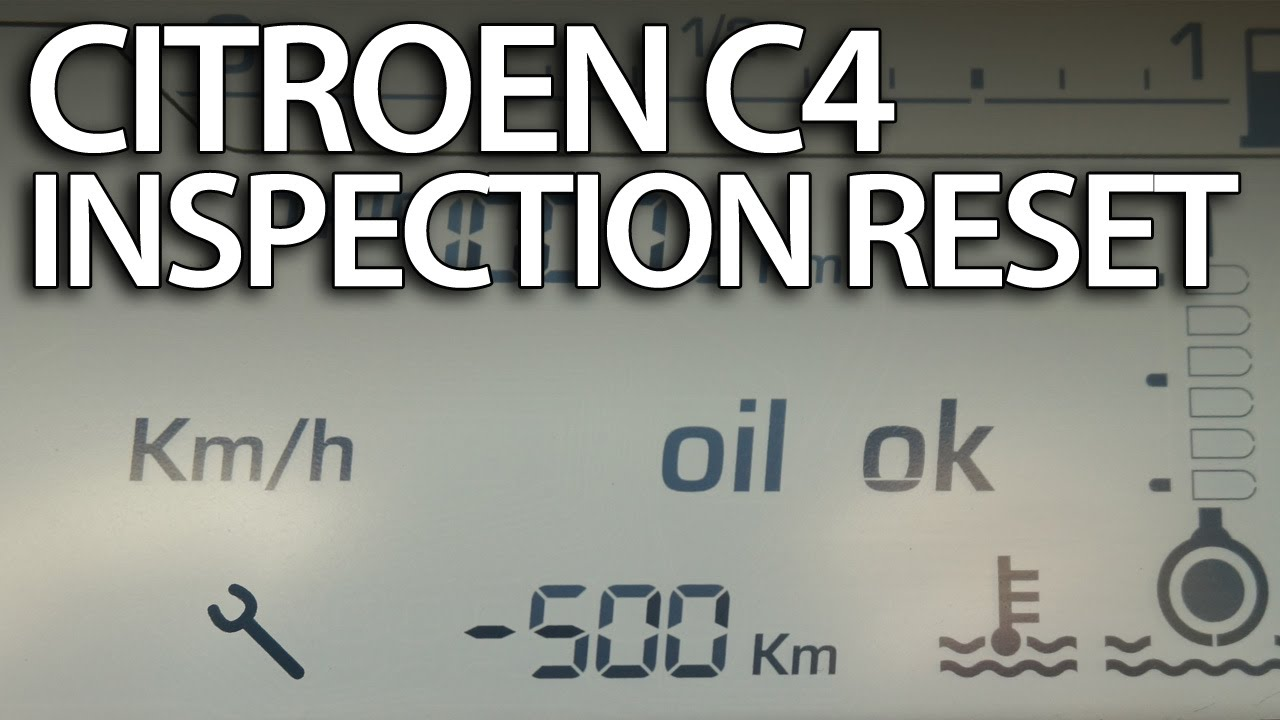 How to Reset Service Reminder in Citroen C4