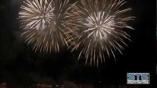 Feu d'artifice du nouvel an 2013 Genève tiré par Pyrostars Fireworks Genève