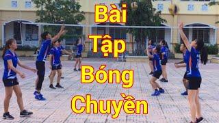 BÀI TẬP BÓNG CHUYỀN CƠ BẢN || DI CHUYỂN TRÁI - PHẢI - TIẾN - LÙI CHUYỀN VÀ ĐỆM BÓNG | NTD Volleyball