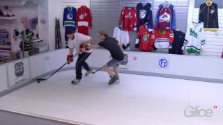 german sub23 hockey talents play fun hockey game on glice premium synthetic ice