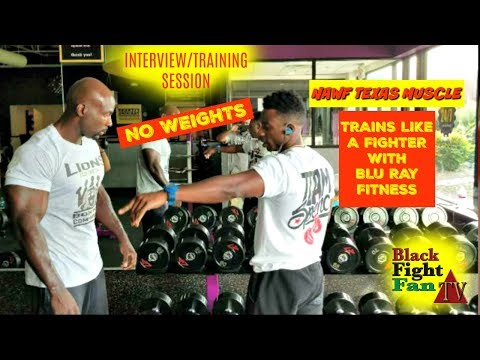 ERROL SPENCE JR'S STRENGTH AND CONDITIONING COACH TRAINS BLACK FIGHT FAN LIKE A PRO #NAWFTEXASMUSCLE