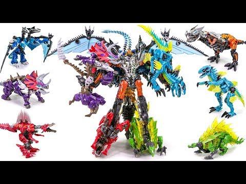 Transformers 4 AOE Dinobot Combiner Grimlock Oversized Scorn Slag Snarl Strafe Dinosaur Robots Toys