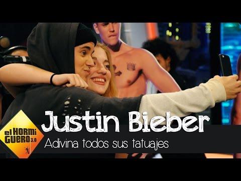 Una fan adivina todos los tatuajes de Justin Bieber  - El Hormiguero 3.0