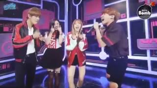 BTS танцуют под песни Girls Group