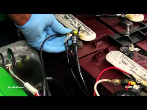battery wire installation  lake erie golf cars