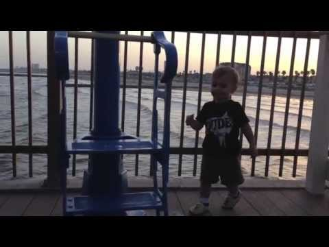Baby's Day Out: Pleasure Pier In Galveston, Texas