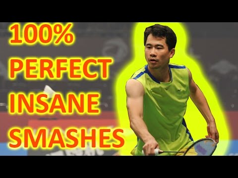 Wei Nan 100% PERFECT INSANE SMASHES Against Lee Chong Wei 魏楠完美杀球让李宗伟无法招架