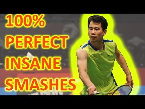 Wei Nan 100% PERFECT INSANE SMASHES Against Lee Chong Wei 魏楠完美杀球让李宗伟无法招架