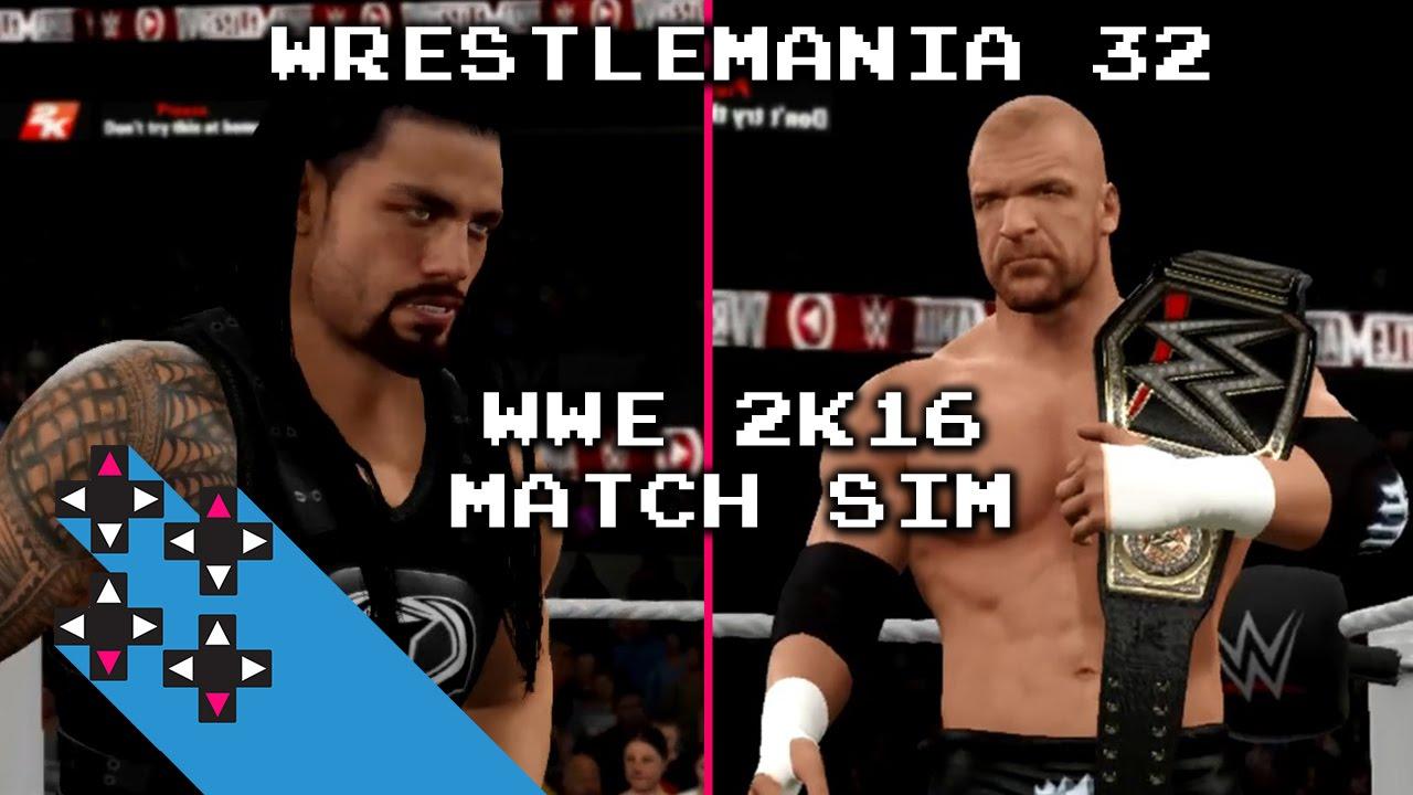 Download WrestleMania 32 WWE 2K16 Sim: Roman Reigns VS. Triple H (WWE WHC Match) — UpUpDownDown