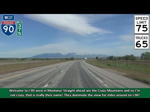 2K14 (EP 32) Interstate 90 West in Montana, Miles 375-333