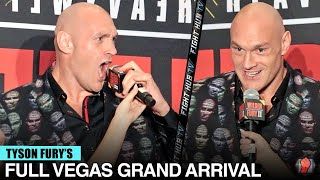 """""""WHOSE READY FOR A F*** WAR!"""" TYSON FURY STORMS MGM AT LAS VEGAS GRAND ARRIVAL FOR WILDER REMATCH"""