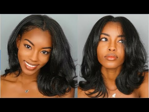 HOW TO STRAIGHTEN CURLY HAIR W/O HEAT DAMAGE! | Curly to STRAIGHT