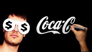 Silver Drawing - How To Draw Coca Cola Logo | Hand Drawn  Calligraphy | Viral Drawing