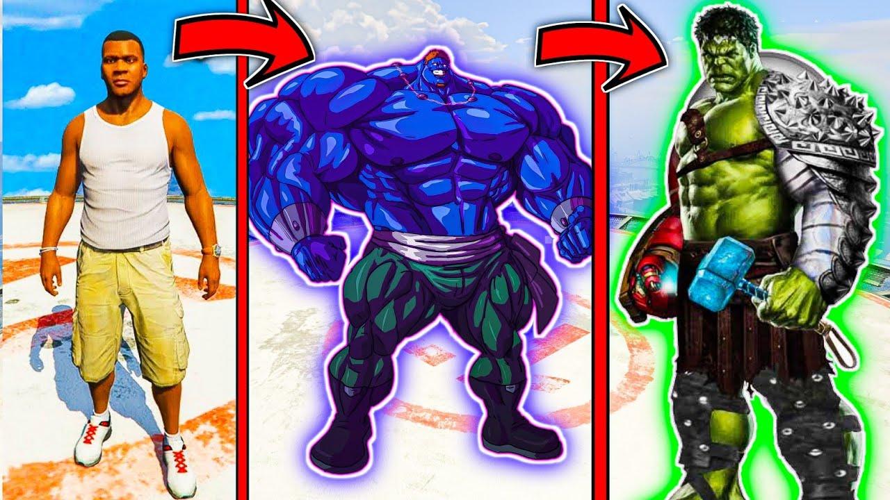 Franklin Upgraded God Hulk to Fight Blue Hulk Army in GTA V (Hindi)   GTA5 AVENGERS   A.K GAME WORLD