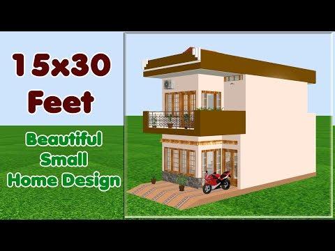15×30 में ऐसे बनाएं छोटा व सुन्दर घर। small space new home design within 8 to 10 Lakh budget.