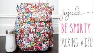 How To Pack For Baby: Ju-Ju-Be Be Sporty Diaper Bag in Tokipops | Functional & Simplistic Packing!