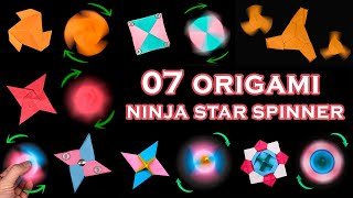 07 Easy #origami #Ninja Star #Spinner
