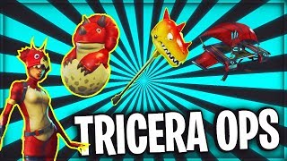 NEW Tricera Ops SKIN // Hatchling BACK BLING // Fossil Flyer // Bitemark AXE // FORTNITE