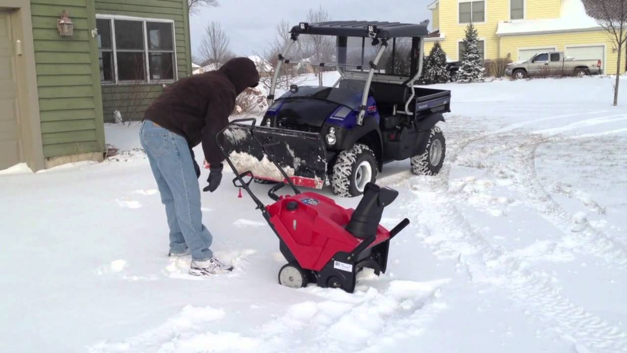 Troy-Bilt Squall 2100 Snow Thrower from Lowes In Action