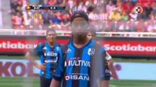 ronaldinho penalty goal vs guadalajara first goal for new club